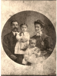 Mama and Papa Parham - about 1906 - with Dixie and Mary Elizabeth