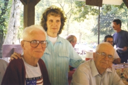 Richard, Ruth, and Chigger at a Family Reunion at Columbus Park in Columbus, KY